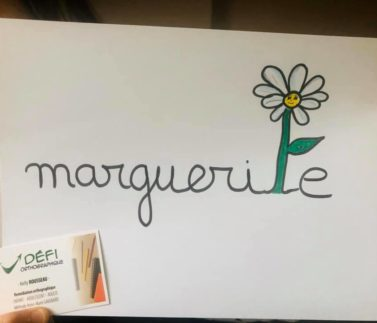 ORTHOGRAPHE ILLUSTREE marguerite