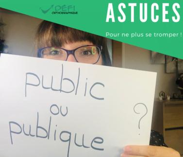 public ou publique